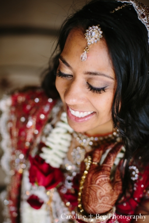 Indian wedding portrait bride detail tikka