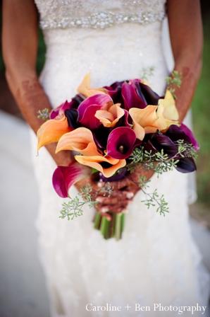 Indian wedding portrait bride flowers
