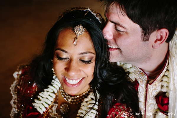 Indian wedding portrait tikka bride groom