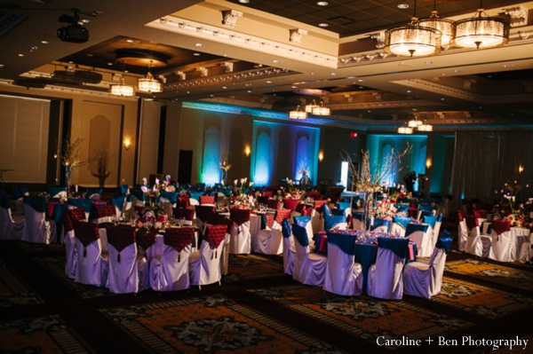 Indian wedding reception decor venue lighting