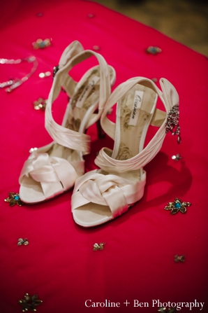 Indian wedding reception detail shoes