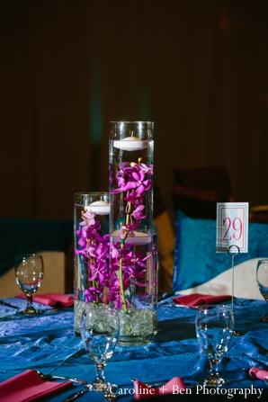 Indian wedding reception flower ideas setting