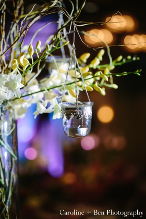 Indian wedding reception  flower setting detail ideas