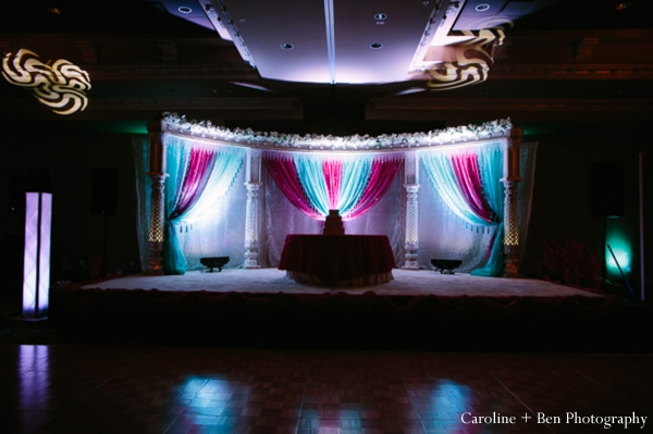 Indianwedding reception lighting decor