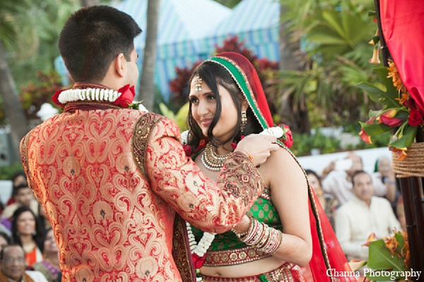 Indian wedding bride groom ceremony in Hollywood, Florida Indian Wedding by Channa Photography