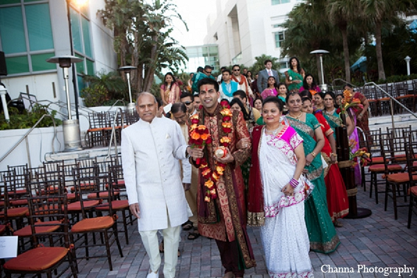 Indian wedding ceremony groom in Hollywood, Florida Indian Wedding by Channa Photography