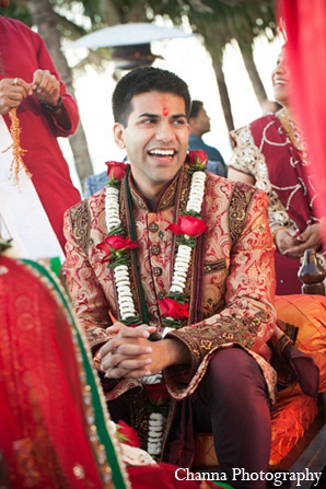 Indian wedding groom hindu ceremony in Hollywood, Florida Indian Wedding by Channa Photography