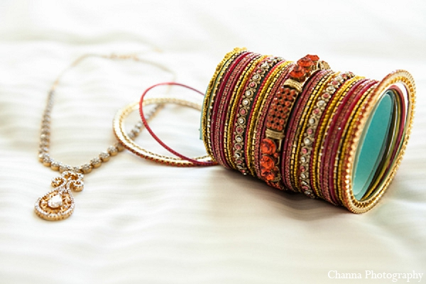 Indian wedding sangeet jewelry bride in Hollywood, Florida Indian Wedding by Channa Photography