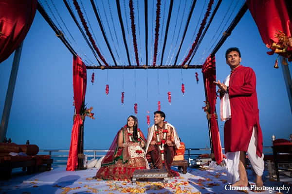 Indian wedding venue bride groom ceremony in Hollywood, Florida Indian Wedding by Channa Photography