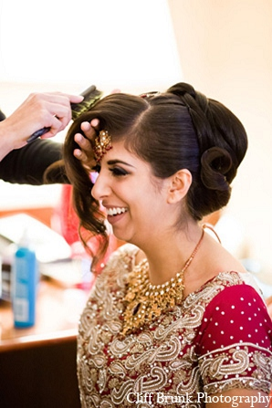 Pakistani bride hair makeup photography in Pleasanton, California Pakistani Wedding by Cliff Brunk Photography