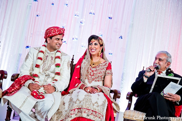 Pakistani ceremony groom bride wedding in Pleasanton, California Pakistani Wedding by Cliff Brunk Photography