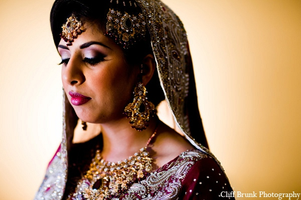 Pakistani wedding bridal makeup hair in Pleasanton, California Pakistani Wedding by Cliff Brunk Photography
