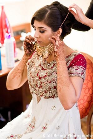 Pakistani wedding bride fashion jewelry in Pleasanton, California Pakistani Wedding by Cliff Brunk Photography