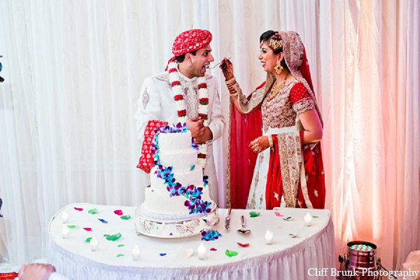 Pakistani wedding bride groom cake in Pleasanton, California Pakistani Wedding by Cliff Brunk Photography