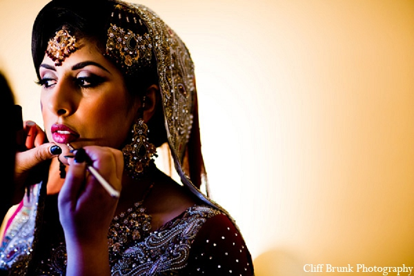 Pakistani wedding bride makeup hair in Pleasanton, California Pakistani Wedding by Cliff Brunk Photography