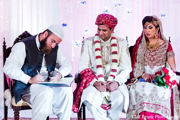 Pakistani wedding ceremony groom bride in Pleasanton, California Pakistani Wedding by Cliff Brunk Photography