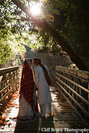 Pakistani wedding outdoor photography bride groom in Pleasanton, California Pakistani Wedding by Cliff Brunk Photography