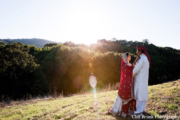 Pakistani wedding portraits bride groom in Pleasanton, California Pakistani Wedding by Cliff Brunk Photography
