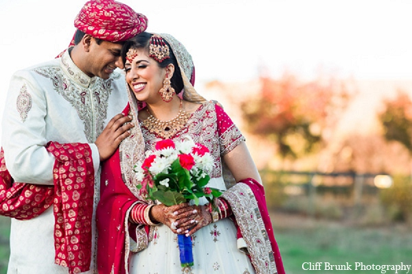 Pakistani wedding portraits outdoors bride groom in Pleasanton, California Pakistani Wedding by Cliff Brunk Photography