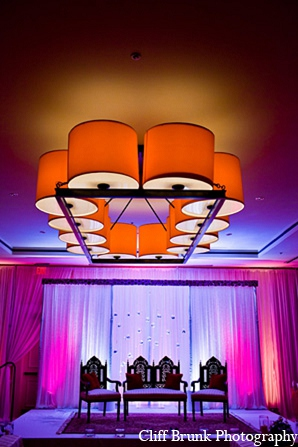 Pakistani wedding reception decor lighting decorations in Pleasanton, California Pakistani Wedding by Cliff Brunk Photography