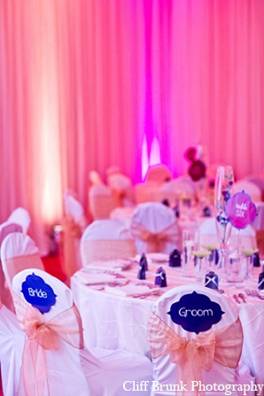 Pakistani wedding reception decor lighting in Pleasanton, California Pakistani Wedding by Cliff Brunk Photography
