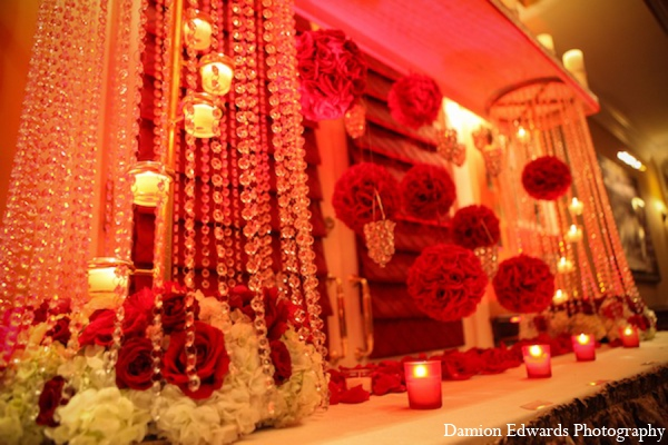 Indian wedding reception lighting