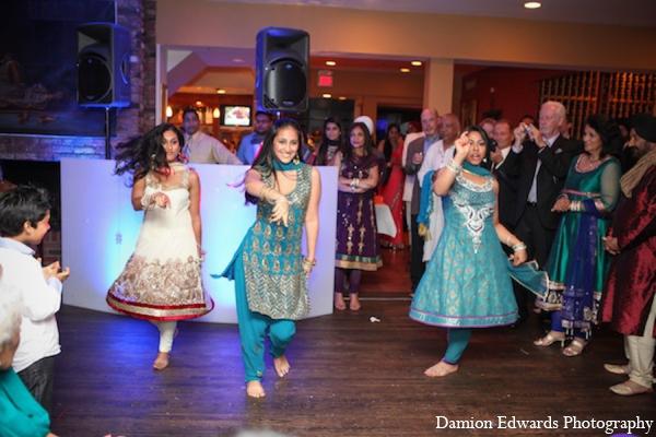 Indian wedding sangeet dancing