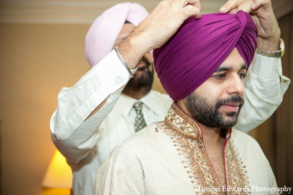 Indian wedding groom turban