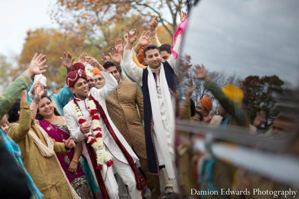 Indian wedding baraat celebration street