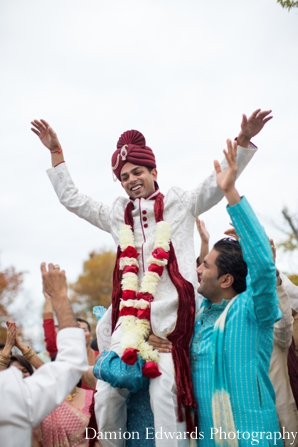 Indian wedding baraat jai mala celebration