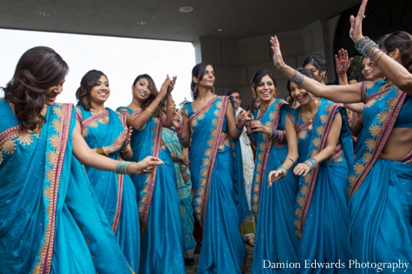 Indian wedding baraat lenghas bridesmaids