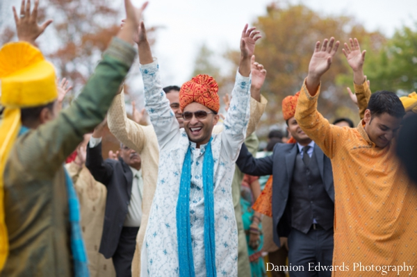 Indian wedding baraat street celebration
