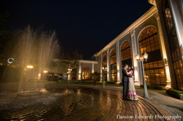 Indian wedding bridal portrait reception venue
