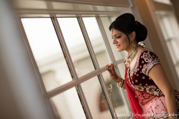 Indian wedding bridal portrait traditional lengha