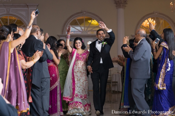 Indian wedding bride groom celebration