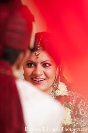 Indian wedding bride groom ceremony tikka