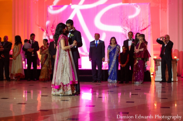 Indian wedding bride groom dance floor