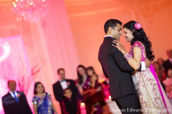 Indian wedding bride groom dancing