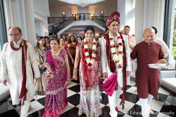 Indian wedding bride groom jai mala  traditional