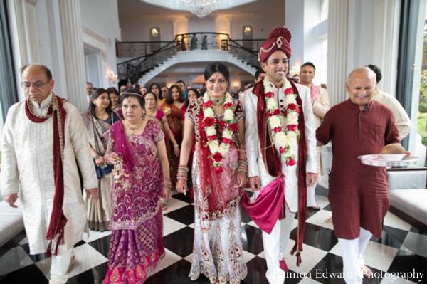 Indian wedding bride groom jai mala  traditional