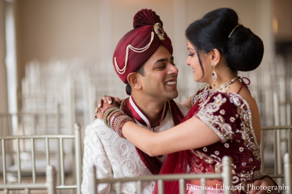 Indian wedding bride groom portrait