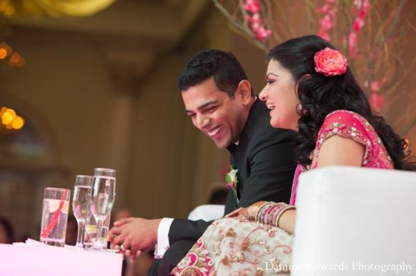Indian wedding bride groom reception celebration