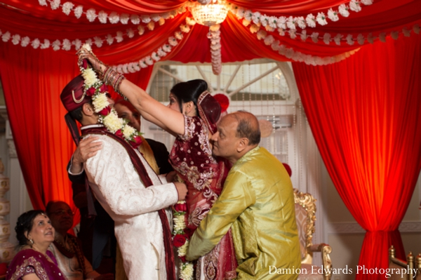 Indian wedding ceremony traditional jai mala celebration