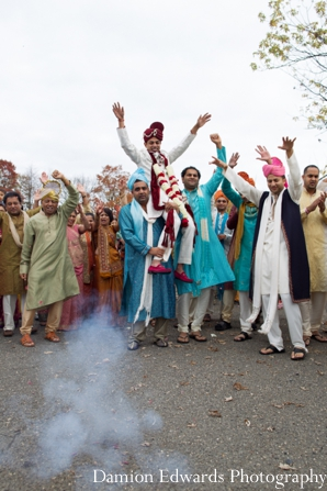 Indian wedding groom celebration street baraat