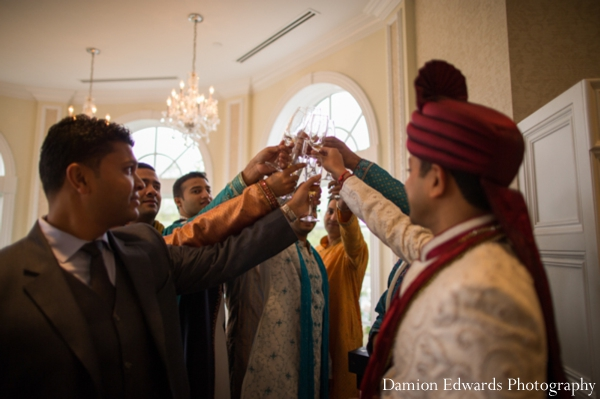Indian wedding groom celebration