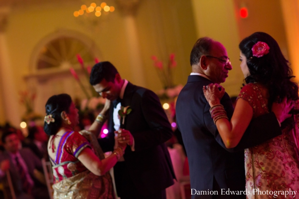 Indian wedding reception dancing