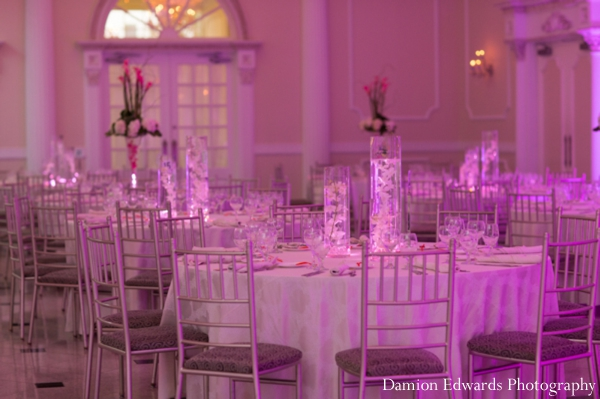 Indian wedding reception venue decor design