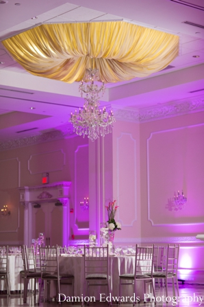 Indian wedding reception venue lighting design