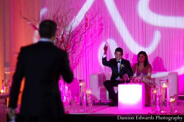 Indian wedding speech traditional reception lighting