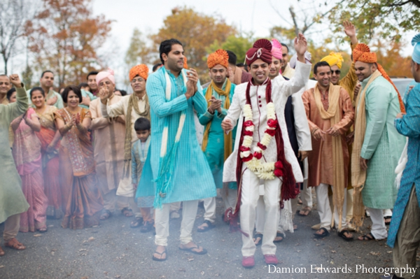 Indian wedding street baraat celebration groom